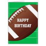 Cumpleaños de la fan de deportes del fútbol tarjeta de felicitación