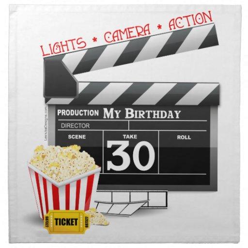 Cumpleaños de la fiesta de cumpleaños de la pelícu servilletas imprimidas
