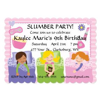 Cumpleaños de la fiesta de pijamas invitaciones personalizada