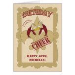 Cumpleaños de la flor de lis de los cangrejos del tarjeta de felicitación