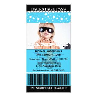 Cumpleaños de la foto de la estrella del rock de tarjetas personales