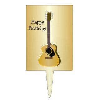 Cumpleaños de la guitarra acústica figuras para tartas