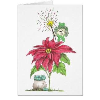 Cumpleaños de la hada de diciembre tarjeta de felicitación