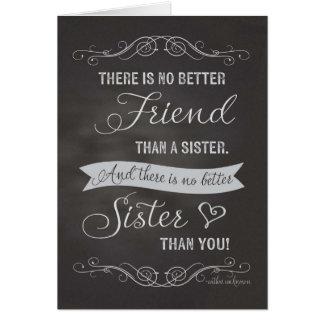 Cumpleaños de la hermana - pizarra - ningún mejor tarjeta de felicitación