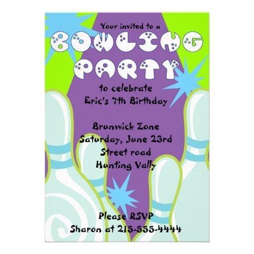 Cumpleaños de la invitación del fiesta que rueda e