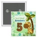 Cumpleaños de la jirafa de los bebés del cumpleaño pins