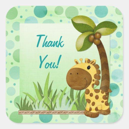 Cumpleaños de la jirafa de los bebés del colcomania cuadrada