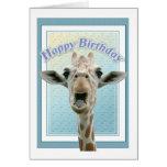 Cumpleaños de la jirafa tarjeta