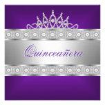 Cumpleaños de la joya de plata púrpura de Quincean Comunicado