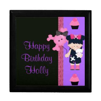 Cumpleaños de la magdalena de Girlie del gótico Cajas De Regalo