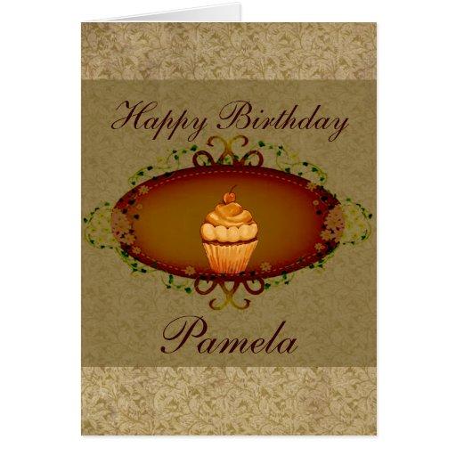 Cumpleaños de la magdalena de la apariencia vintag felicitación
