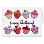 Cumpleaños de la magdalena tarjeta