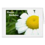 Cumpleaños de la margarita tarjeta