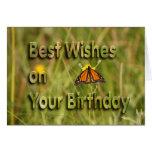 Cumpleaños de la mariposa de monarca felicitaciones
