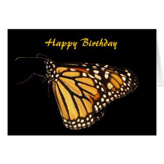Cumpleaños de la mariposa de monarca tarjeta de felicitación