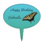 Cumpleaños de la mariposa decoración de tarta