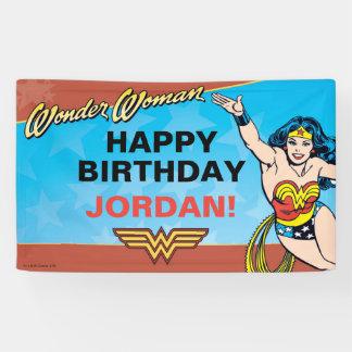 Cumpleaños de la Mujer Maravilla Lona
