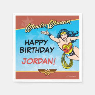 Cumpleaños de la Mujer Maravilla Servilletas De Papel