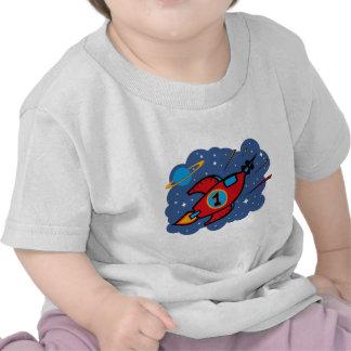 Cumpleaños de la nave de Rocket 1r Camiseta