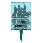 Cumpleaños de la nave de Viking Decoraciones De Tartas