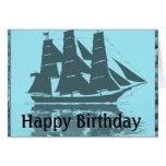 Cumpleaños de la nave de Viking Felicitación