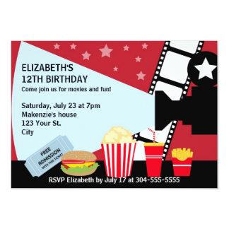 Cumpleaños de la noche de película anuncio