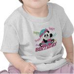 Cumpleaños de la panda camiseta