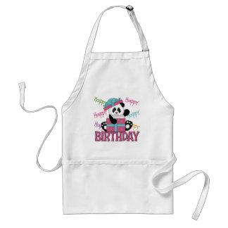 Cumpleaños de la panda delantal