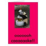cumpleaños de la panda felicitacion