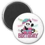 Cumpleaños de la panda imán de frigorífico