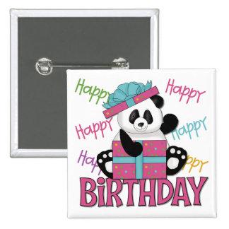 Cumpleaños de la panda pin