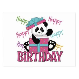 Cumpleaños de la panda postal