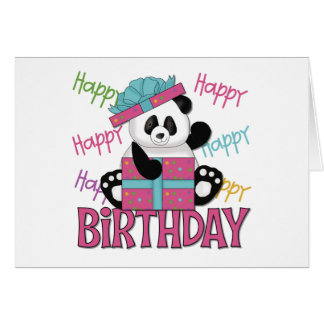 Cumpleaños de la panda tarjetón