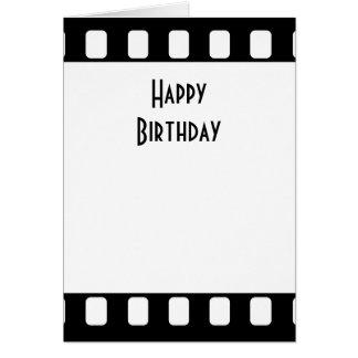 cumpleaños de la película de 35m m feliz tarjeta de felicitación