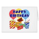 Cumpleaños de la película tarjetón