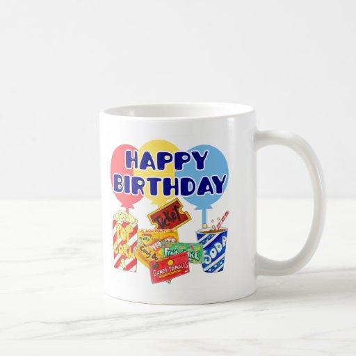 Cumpleaños de la película taza de café
