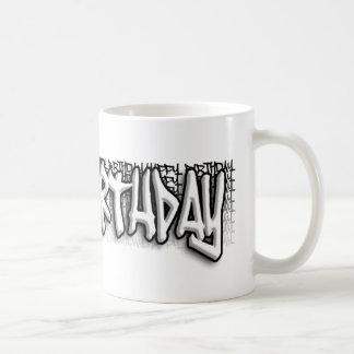 Cumpleaños de la pintada taza de café