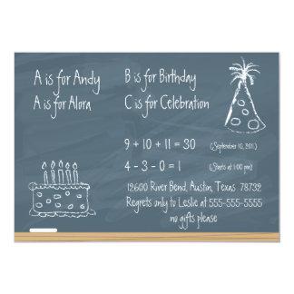 Cumpleaños de la pizarra invitación 12,7 x 17,8 cm