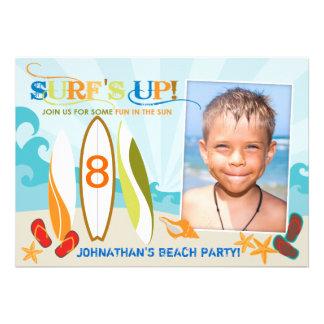 Cumpleaños de la playa de los tableros del tipo y