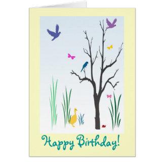 Cumpleaños de la primavera tarjeta de felicitación