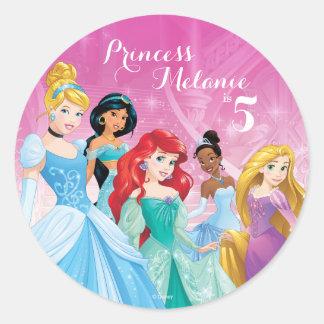Cumpleaños de la princesa el | de Disney Pegatina Redonda