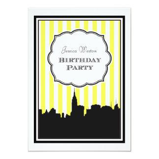 Cumpleaños de la raya #1 DIY de la silueta del Invitación Personalizada