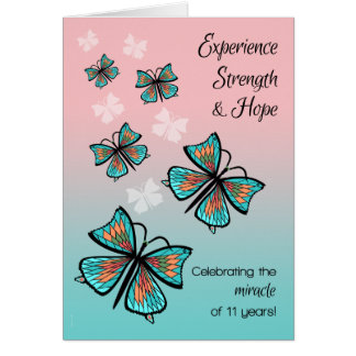 Cumpleaños de la recuperación de 11 años con las tarjeta de felicitación