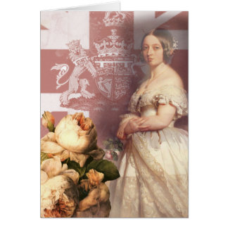 Cumpleaños de la reina Victoria del vintage feliz Tarjeta De Felicitación