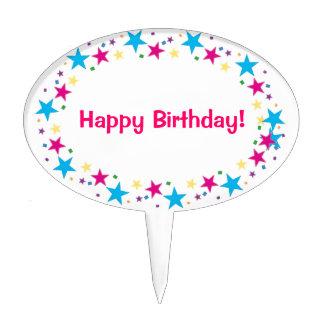 Cumpleaños de la selección de la torta feliz decoraciones de tartas