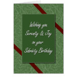 Cumpleaños de la sobriedad tarjeta de felicitación
