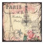 Cumpleaños de la sorpresa de la torre Eiffel y de Comunicados Personalizados