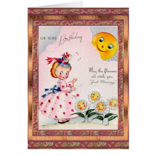 Cumpleaños de la tarjeta del vintage