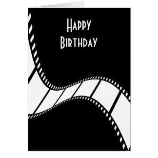 Cumpleaños de la tira de la película feliz tarjeta de felicitación