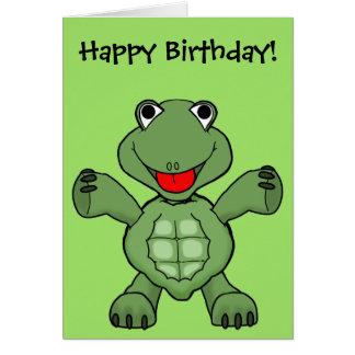 Cumpleaños de la tortuga tarjeton